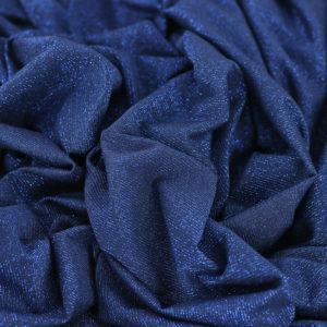 "Tissu Jersey Brillant ""Bright - Bleu Nuit"" © Eyrelles Tissus"