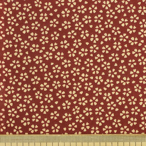 Tissu coton imprimé popeline Myosotis Bordeaux © Eyrelles Tissus