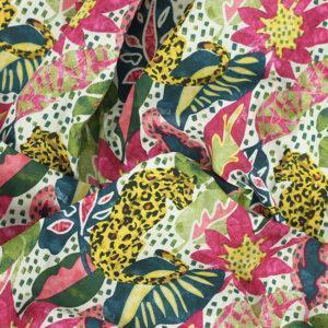 Tissu coton imprimé popeline Mowgli © Eyrelles Tissus