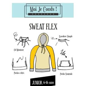 """Sweat """"Sweat Flex"""" Patrons Moi Je Couds © Eyrelles Tissus"""