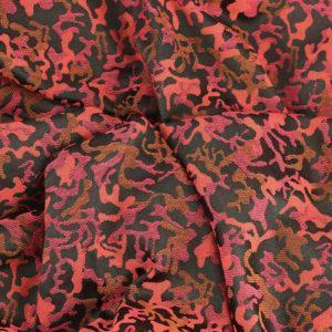 Tissu Jacquard Militaire rose © Eyrelles Tissus