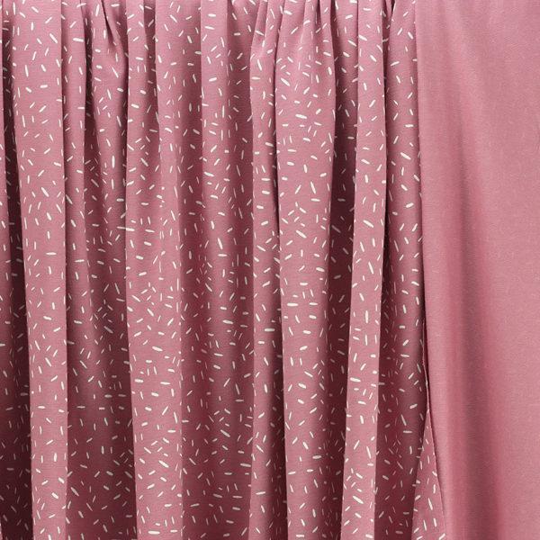 Tissus Jersey coton oeko tex Confettis Rose © Eyrelles Tissus