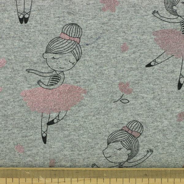 Tissus Jersey coton oeko tex ballerine brillant © Eyrelles Tissus