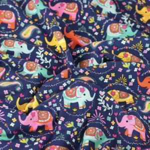 Tissus Jersey coton oeko tex éléphant © Eyrelles Tissus