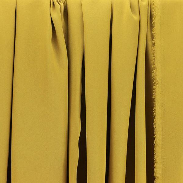 Tissus Tencel Edward Jaune Moutarde © Eyrelles Tissus