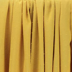 """Tissus Viscose """"Plumetis - Jaune Moutarde"""" © Eyrelles Tissus"""