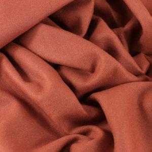 Drap de laine tissus diane Brique © Eyrelles tissus