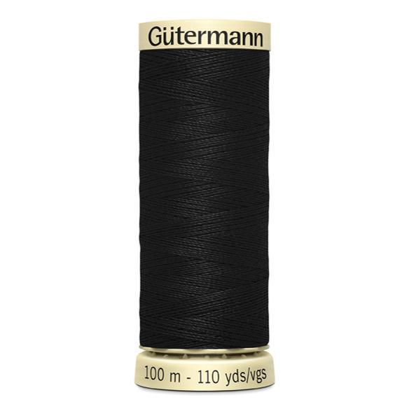Fils Gütermann 100m couleur noir : 000 © Eyrelles Tissus