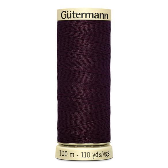 Fils Gütermann 100m couleur Prune : 130 © Eyrelles Tissus