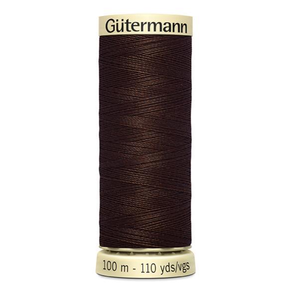 Fils Gütermann 100m couleur Marron : 694 © Eyrelles Tissus