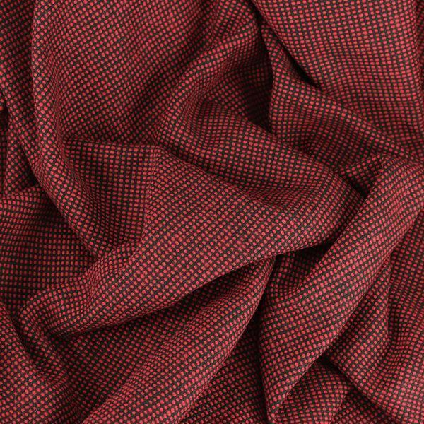 """Tissus Lainage """"Molitoria - Rouge"""" © Eyrelles Tissus"""