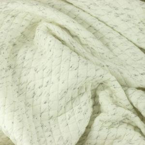 "Tissus Molleton ""Osange - Blanc Marbre"" © Eyrelles Tissus"