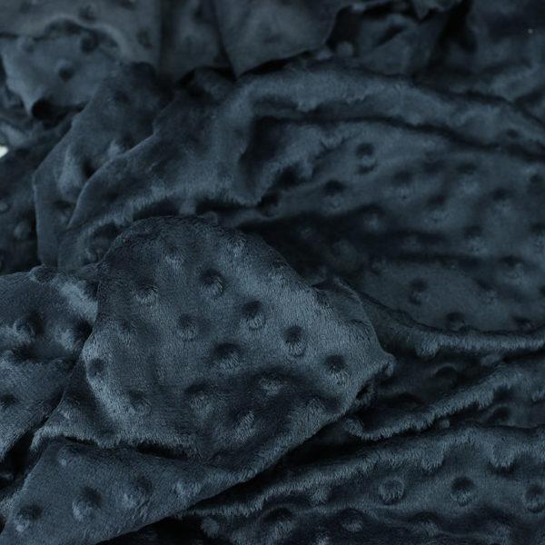 "Tissus Minky à pois ""Dolce - Gris Anthracite"" © Eyrelles Tissus"