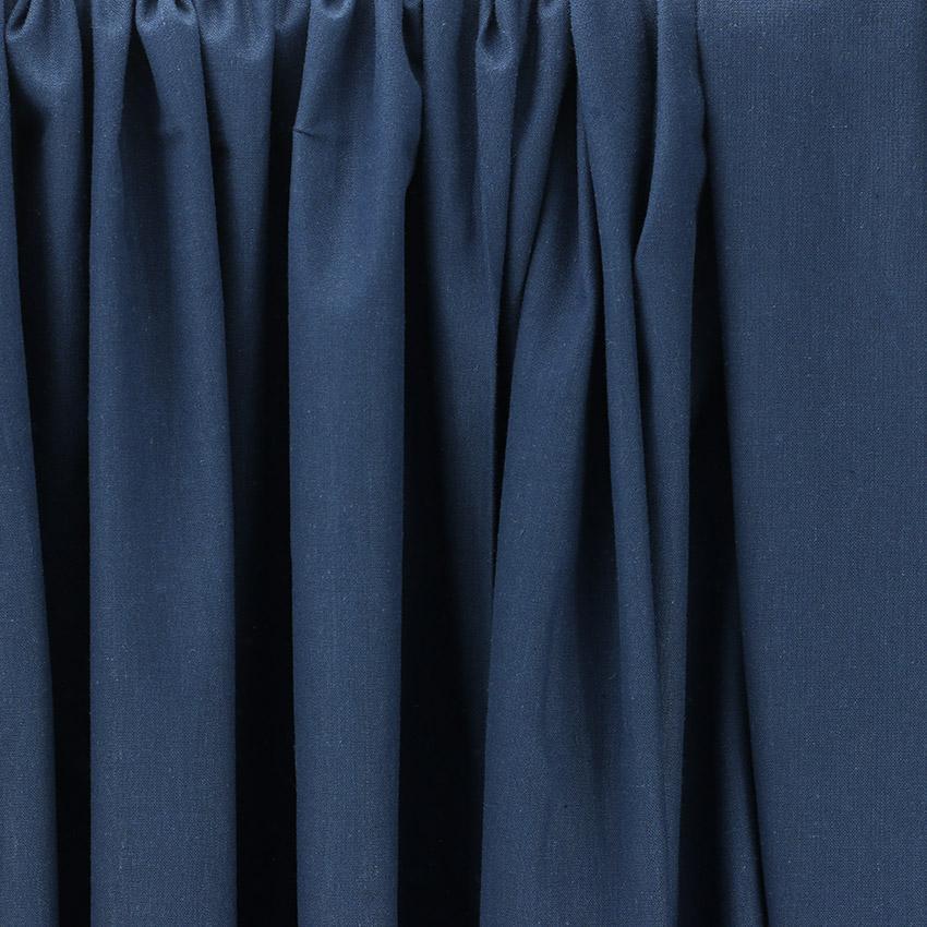 Tissu Emma 100 % Coton Uni Bleu Marine © Eyrelles Tissus