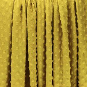 "Tissus Minky à pois ""Dolce - Jaune Moutarde"" © Eyrelles Tissus"