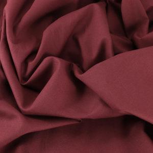 Tissu Emma 100 % Coton Uni Prune © Eyrelles Tissus