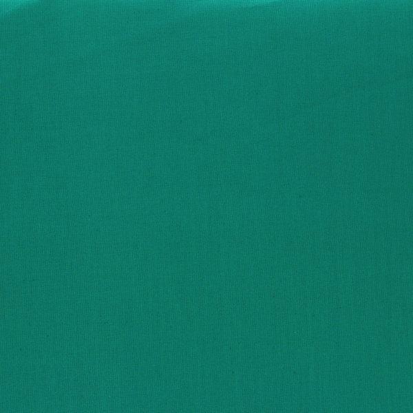 Tissu Emma 100 % Coton Uni Vert Paon © Eyrelles Tissus