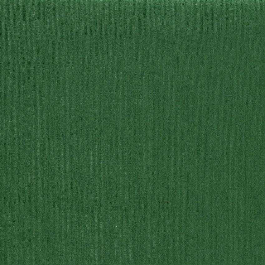 Tissu Emma 100 % Coton Uni Vert Sapin © Eyrelles Tissus
