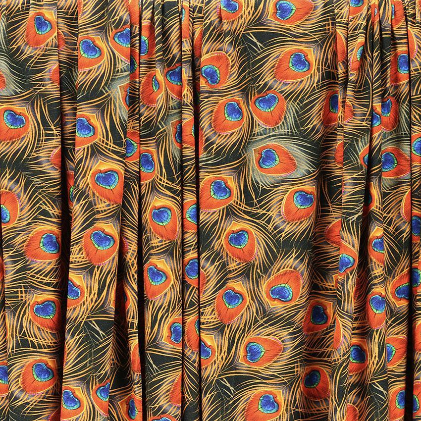 """Tissus Jersey de viscose digitale """"Paon brique"""" © Eyrelles Tissus"""