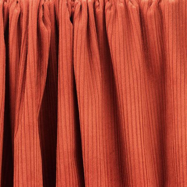 """Tissu velours côtelé """"Victor - Brique"""" © Eyrelles Tissus"""