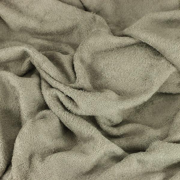 """Tissu éponge bambou Oeko Tex """"Bambou - Taupe"""" © Eyrelles tissus"""