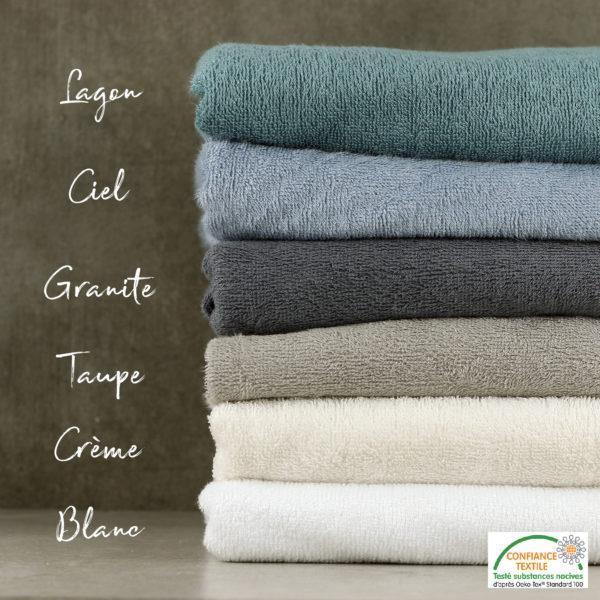 Tissu éponge bambou Oeko Tex toute la gamme © Eyrelles tissus