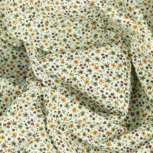 Tissu coton imprimé popeline Minette Jaune © Eyrelles Tissus
