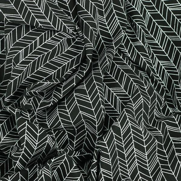 Tissus Popeline de coton tissus Inca Noir et Blanc © Eyrelles Tissus