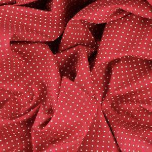 Tissus Popeline de coton tissus pois rouge © Eyrelles Tissus