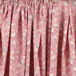 Tissu coton imprimé popeline Birdy Rose © Eyrelles Tissus