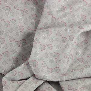 Tissu coton imprimé popeline Coptos Gris © Eyrelles Tissus