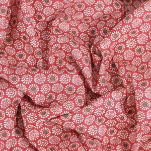 Tissu coton imprimé popeline Salomé Rose © Eyrelles Tissus
