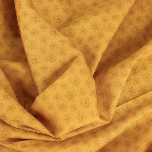 """Tissu coton imprimé """"Dandelion - Jaune Moutarde"""" © Eyrelles Tissus"""