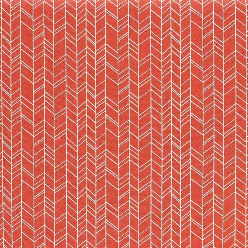 Tissus Popeline de coton tissus Inca Orange Brique © Eyrelles Tissus
