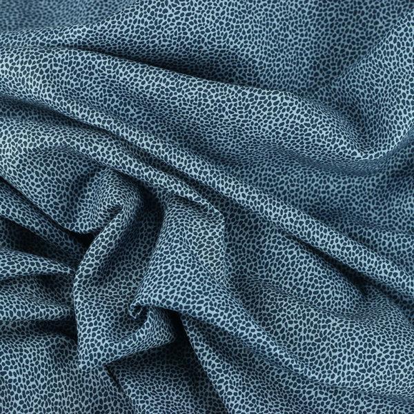 Tissu coton imprimé popeline Panthère bleu © Eyrelles Tissus