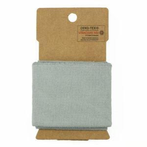 bord côte élastique Oeko Tex Uni classique - Gris ©Eyrelles Tissus
