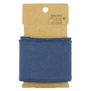 bord côte élastique Oeko Tex Uni classique - Bleu ©Eyrelles Tissus
