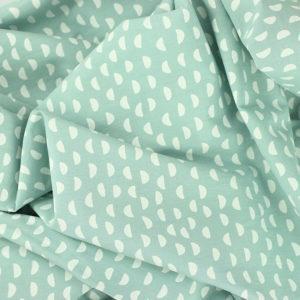 Popeline de coton demi-lune vert menthe © Eyrelles tissus
