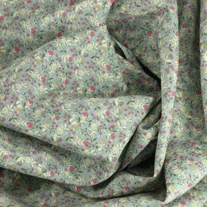 """Popeline tissu imprimé coton oeko tex """"Flyne - Gris"""" © Eyrelles tissus"""