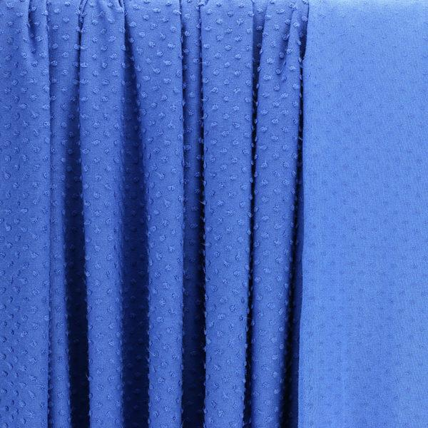 "Tissus Jersey Plumetis ""Bluedy - Bleu Cobalt"" © Eyrelles Tissus"
