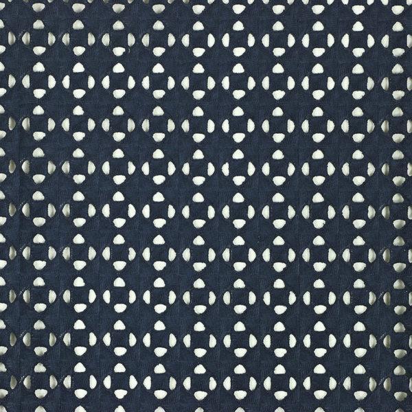 Tissu broderie anglaise Taylor Bleu Marine 100% coton © Eyrelles Tissus