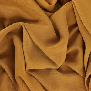 """Tissu crêpe uni """"Jaune Moutarde"""" © Eyrelles Tissus"""