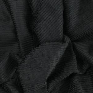 "Tissu velours côtelé ""Victor - Noir"" © Eyrelles Tissus"