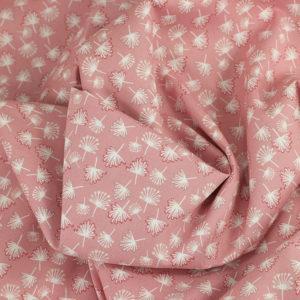 Tissu coton imprimé popeline Coptos Rose © Eyrelles Tissus