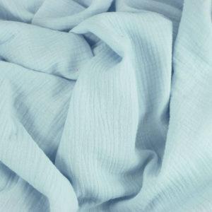 Tissus Double Gaze Ange Bleu ciel © Eyrelles Tissus