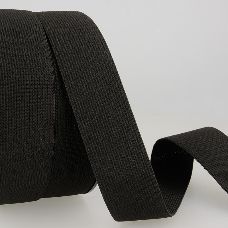 Mercerie élastique maille 1cm Noir © Eyrelles Tissus