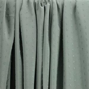 """Tissus Viscose """"Plumetis - Vert Amande"""" © Eyrelles Tissus"""