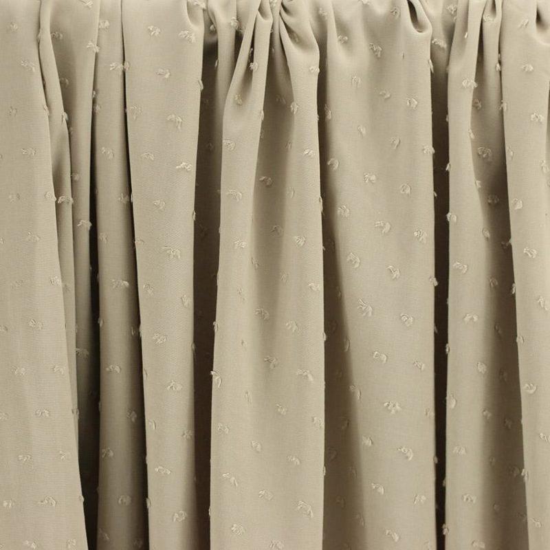 """Tissus Viscose """"Plumetis - Sable"""" © Eyrelles Tissus"""