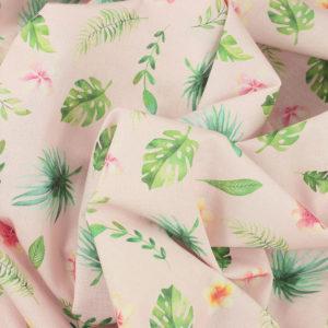 Tissu coton imprimé digital popeline Acapulco © Eyrelles Tissus