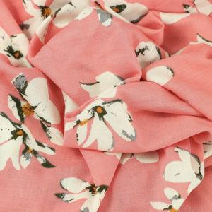 """Tissus Jersey de viscose """"Antonia - Rose Corail"""" © Eyrelles Tissus"""